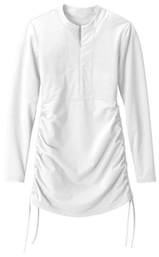 Women's Rash Guard, BeAllure UV Sun Protection UPF 50+ Long Sleeve Solid Color Rashguard Pool Beach Yoga Wetsuit Swimsuit Tee Shirt Top,White
