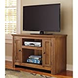 Traditional TV Stand in Grayish Brown Finish ()