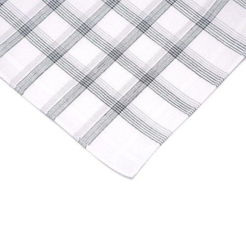 Neatpal 100% Cotton Men's Handkerchiefs Check Pattern Hankies by Neatpal (Image #6)