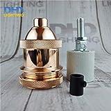 Kamas wholesales price 50pcs/lot industrial antique brass Aluminum Lamp Holder Retro Lighting Accessories threaded socket - (Color: LH7705)