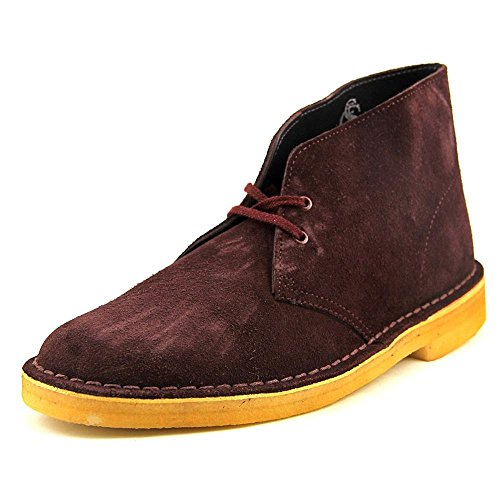 ( Clarks Men's Desert Boot, Wine Suede, US 10.5 M )