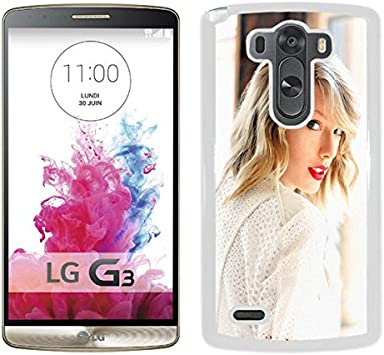 Amazon Com Taylor Swift In White 640x1136 White Popular Hard Shell Lg G3 Phone Cover Case Electronics