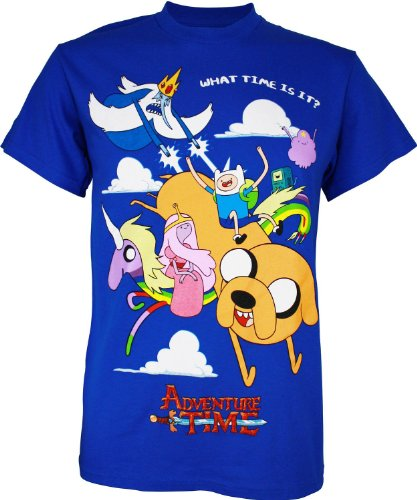 Adventure Time - Group in Cloud T-Shirt - Small