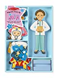 Melissa & Doug Julia Magnetic Dress-Up Wooden Doll Pretend Play Set (25+ pcs)