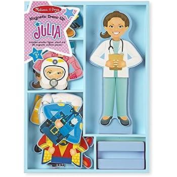 Melissa & Doug Julia Magnetic Dress-Up Wooden Doll Pretend Play Set (25+ pcs)