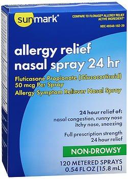 Sunmark Allergy Relief Nasal Spray 24 hr - .54 Oz