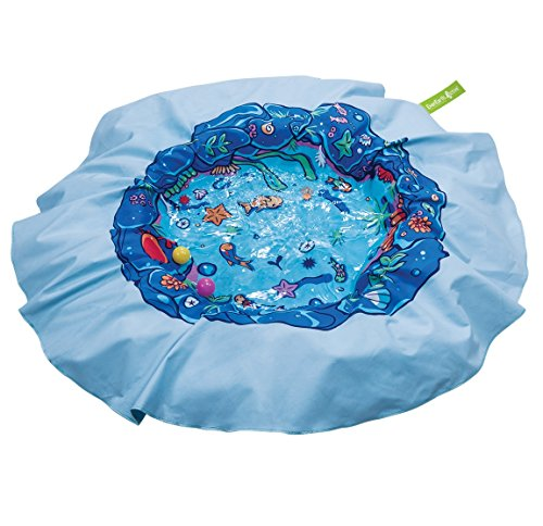 EverEarth E Lite Waterproof Beach Blanket & Kiddie Pool, Blue
