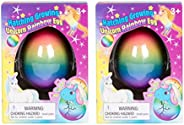 Master Toys & Novelties Surprise Growing Unicorn Hatching Rainbow Egg Kids Toys, Assorted Rainbow Co