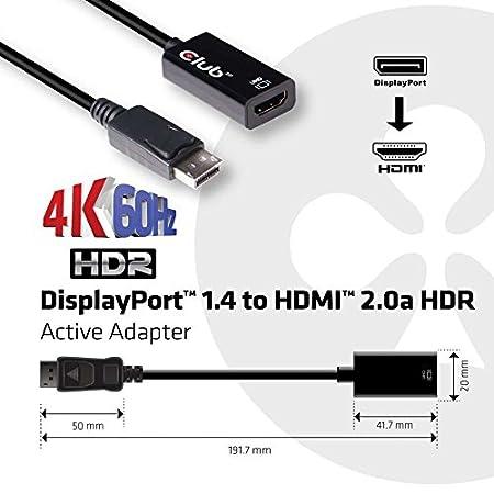 amazon com club3d cac 1080 active displayport 1 4 to hdmi 2 0b hdr rh amazon com