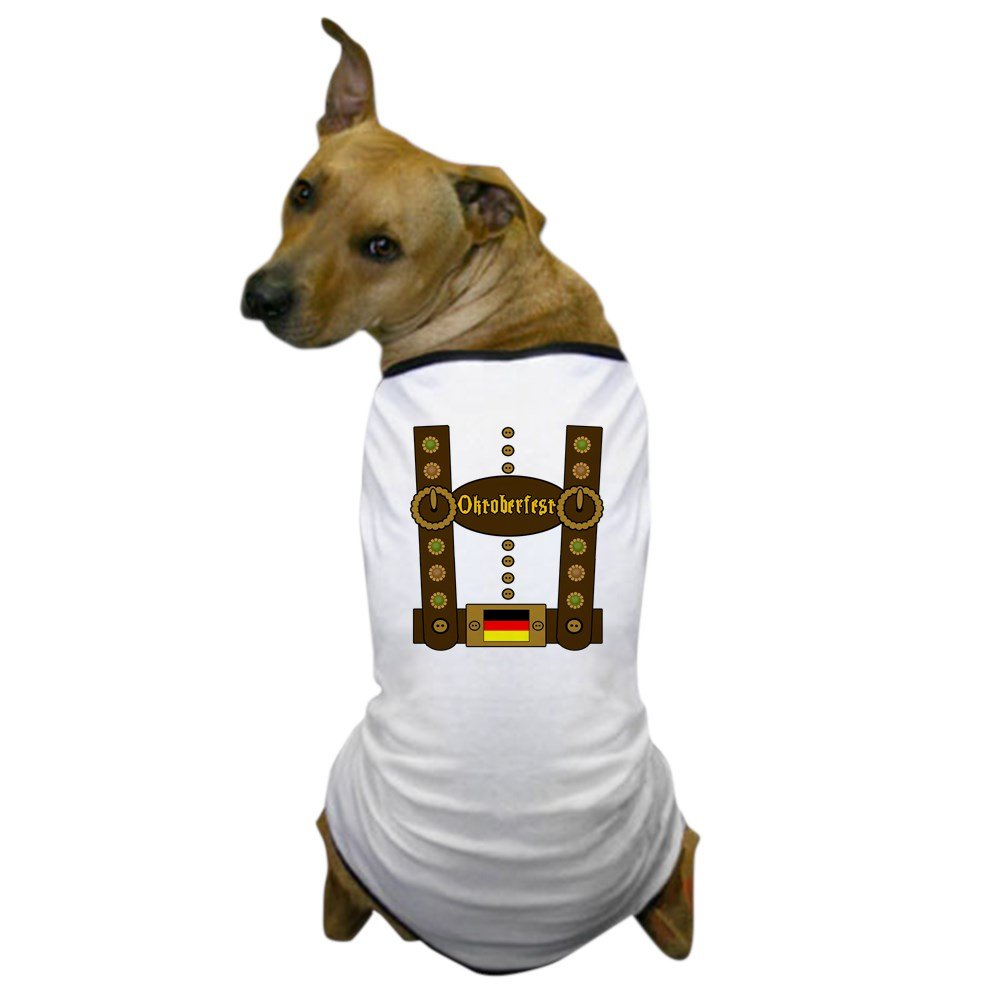 CafePress - Oktoberfest Lederhosen Funny - Dog T-Shirt, Pet Clothing, Funny Dog Costume