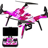 MightySkins Protective Vinyl Skin Decal for 3DR Solo Drone Quadcopter wrap cover sticker skins Pink Camo