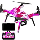 pink camo quad - MightySkins Protective Vinyl Skin Decal for 3DR Solo Drone Quadcopter wrap Cover Sticker Skins Pink Camo