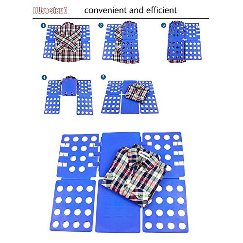 House of Quirk Adjustable Clothes Folder T Shirt Flip Fold Folding Board Fast Laundry Folder