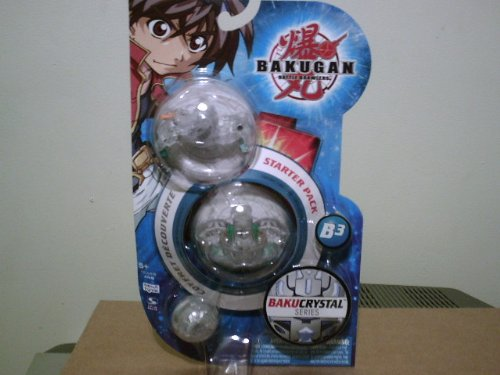 Bakugan Battle Brawlers B3 BakuCrystal Series Starter Pack- Mystery G Crystal Ventus Verias, 470G Crystal Ventus Alpha Percival, and Mystery Crystal Ventus Bakugan ()