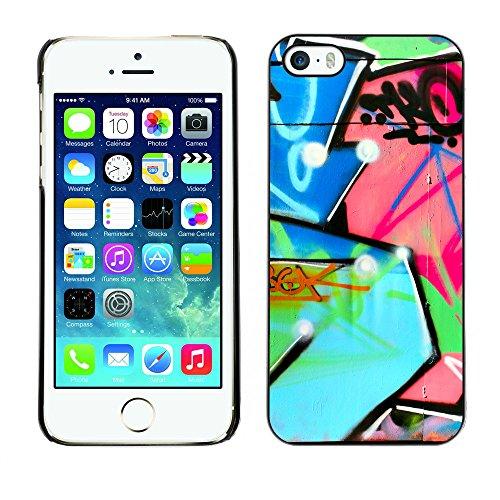 Premio Sottile Slim Cassa Custodia Case Cover Shell // V00002342 Graffiti // Apple iPhone 5 5S 5G