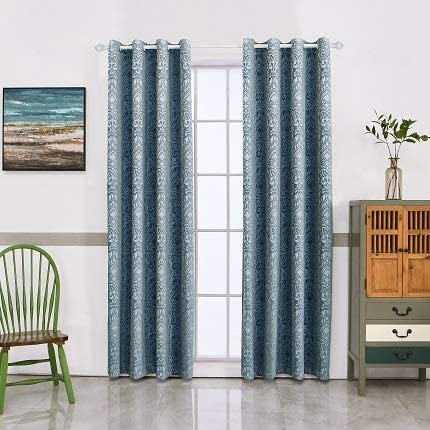 Midwest Insulated Curtains for Living Room 98 Inches Long Grommet Top Soft Velvet Panel