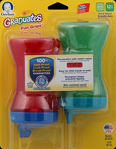 Gerber Graduates Fun Grips Hard Spout Sippy Cup in Assorted Colors, 10-Ounce, 2 cups by Gerber Graduates (Image #8)