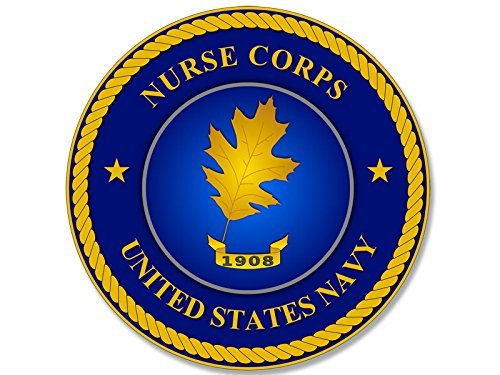 (MAGNET Round NAVY Nurse Corps Seal Magnetic Sticker (logo naval decal))