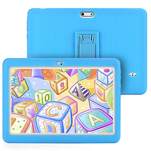 Tagital T10K Kids Tablet 10.1 inch Display, Kids Mode Pre-Installed, with WiFi, Bluetooth and Games, Quad Core Processor, 1280×800 IPS HD Display (Blue)
