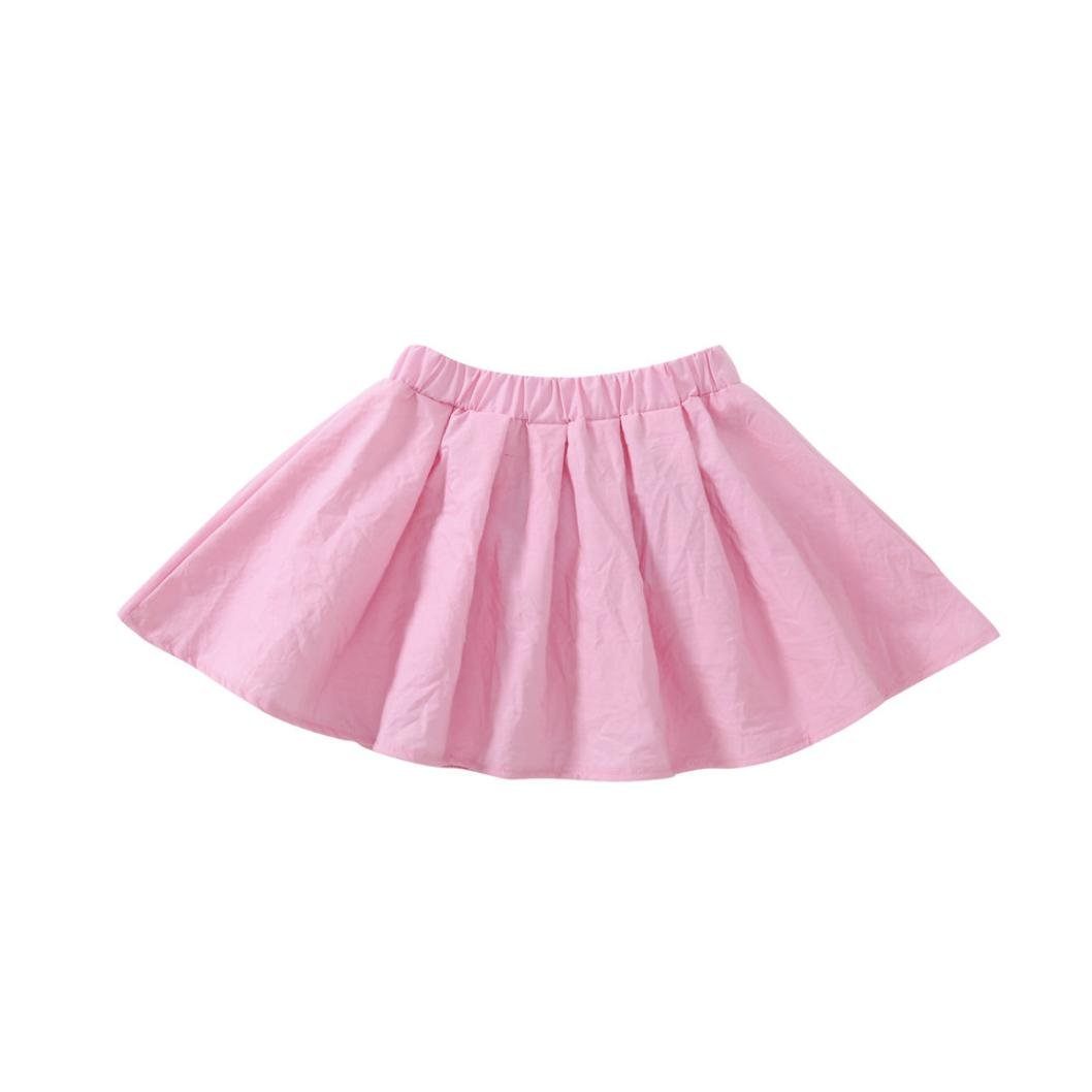 New Style Baby Kids Girls Cute Cat Short Sleeve Tops Skirts Outfit for 1-5 T Jchen Little Girls Skirts Sets, TM