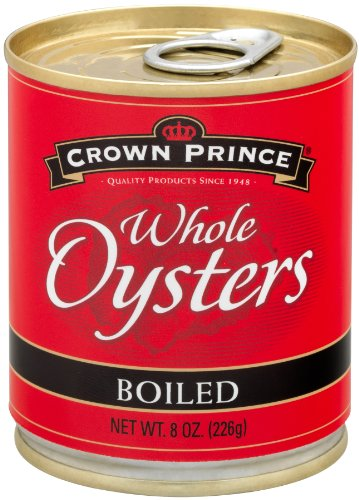 Crown Prince Whole Boiled Oysters, 8-Ounce Cans (Pack of (Whole Oysters)