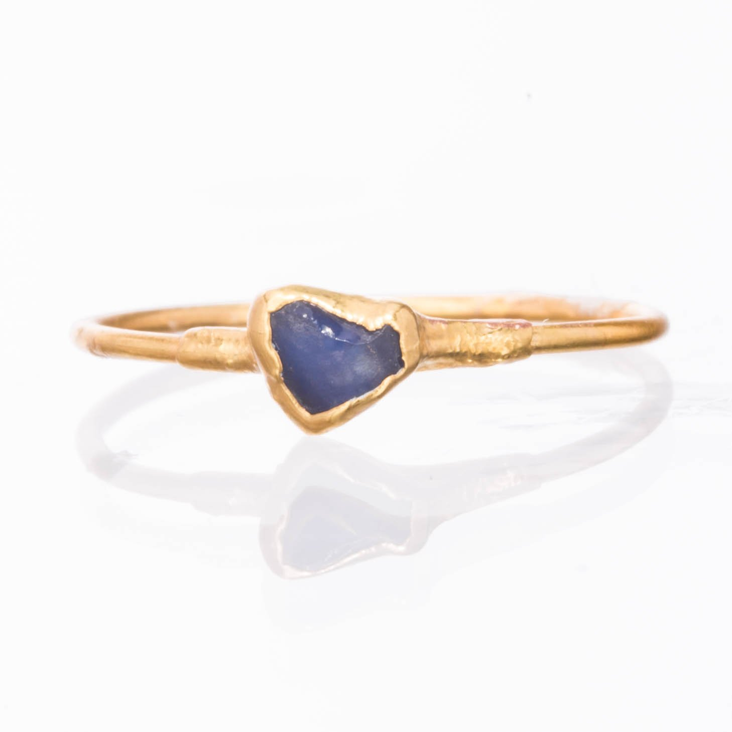 14k Gold Filled Size 8 Raw Sapphire Ring September Birthstone
