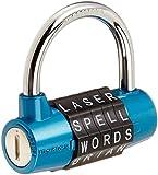 Wordlock 5-Dial Padlock, 63mm, Blue