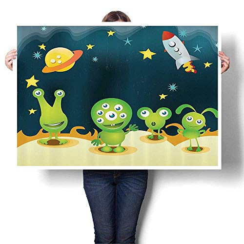 Wall Painting Aliens Mars Surface Galaxy Solar System for sale  Delivered anywhere in Canada