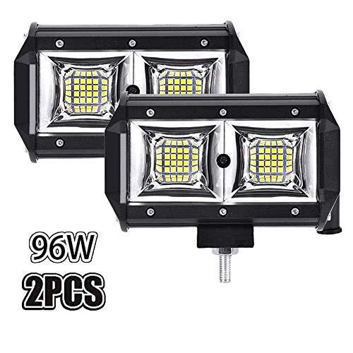 WZTO Led-werklamp, 12 V, 24 V, 96 W, Cree LED, extra schijnwerper, 1000 lm, auto, schijnwerper, offroad, schijnwerper…