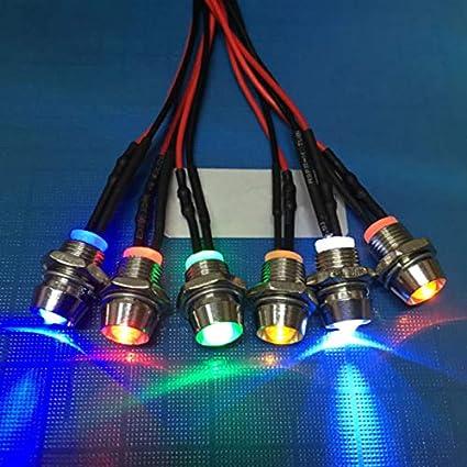 ROKOO 5pcs 12/V LED Lampada da spia Indicatore di cruscotto per auto barca barca marino