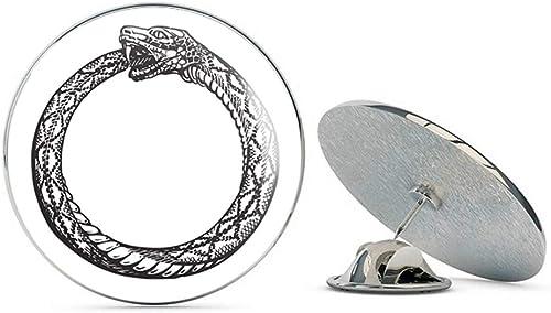 Ouroboros Snake Serpent Eating Tail Renewal Egyptian Symbol Tie Tack Lapel Pin