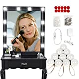Liping LED Night Light Makeup Mirror Lights Kits Dimmable Table Bulbs Vanity Makeup Lights Wall Lamp Light (A)
