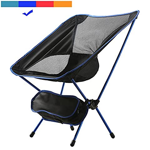 MayJu Ultralight Portable Folding Outdoor Chair - Compact Chair for Scouts, Camping, Campfire with Carry Bag - Classic Blue , 20 x 22 x - Classic Spring Club Chair Frame