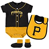 Pittsburgh Pirates Infant Black Yellow Tiny Player Creeper Bib & Bootie Set