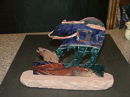 ar-art-bear-catching-salmon-lazer-cut-fusion-colored-sandstone-mounted