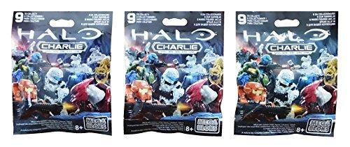Mega Bloks Halo (3 Packs) Charlie Series Mini Figure Blind Bags (Total of 3 Packs)