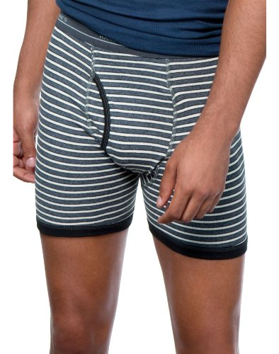 Pair Ringer (Mens Hanes 4 Pair ComfortFlex Striped Ringer Boxer Briefs - 7347P4 Assorted Stripes Large)