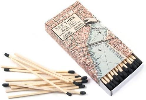 HomArt New York Map - Juego de 3 Cajas de cerillas Decorativas, diseño de Mapa de Nueva York: Amazon.es: Hogar