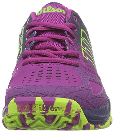 Wilson Kaos Comp W, Zapatillas de Tenis Para Mujer Rosa (Morado / Azul / Verde)
