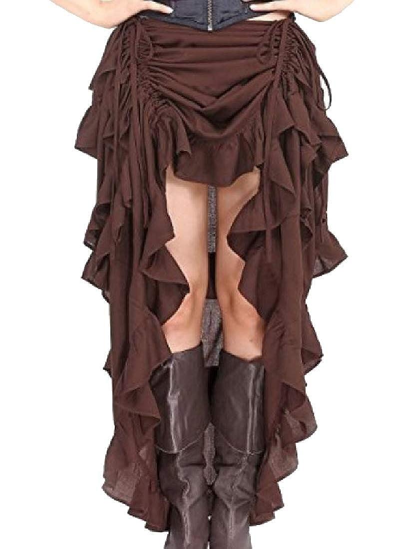 Andopa Renacimiento cintura elástica alta bajo falda larga deluxe ...