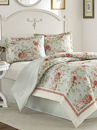 Queen Comforter Set (Laura Ashley Vivienne Mint)