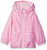 Osh Kosh Little Girls' Lightweight Windbreaker, Pink Gingham, 4
