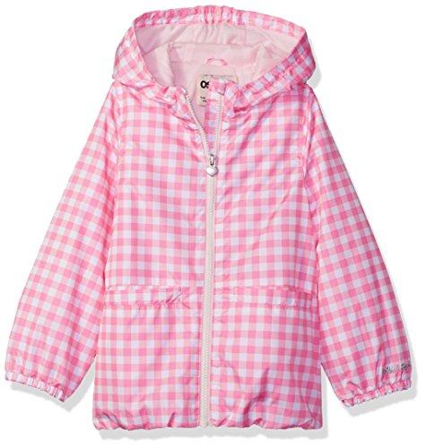 Osh Kosh Girls' Little' Lightweight Windbreaker, Pink Gingham, 4 ()