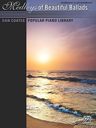 Jazz Music Vocal Sheet (Dan Coates Popular Piano Library -- Medleys of Beautiful Ballads)