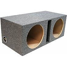 "ASC Dual 12"" Subwoofer Universal Fit Vented Port Sub Box Speaker Enclosure"