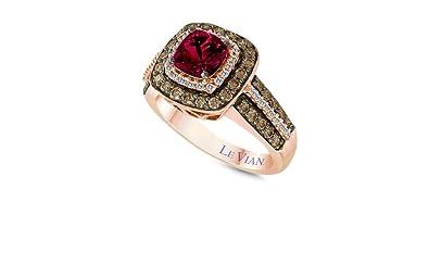 b7536be2172f4 Amazon.com: LeVian Ring Rhodolite Garnet Chocolate White Diamonds ...