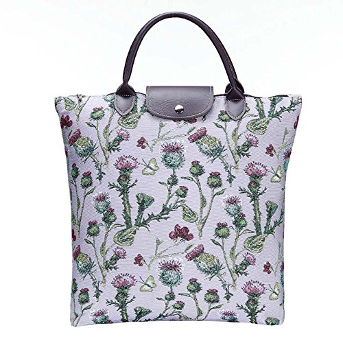 Borsa donna Signare in tessuto stile arazzo Pieghevoli Shopping alla moda Cardo