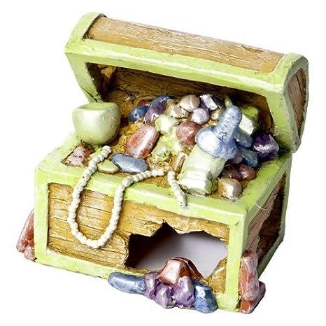 glofish Cofre del Tesoro adorno para acuario, pequeño por glofish: Amazon.es: Productos para mascotas
