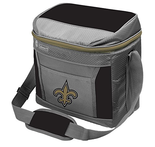 NFL New Orleans Saints 16 Can Soft-Sided Cooler with Ice, Black