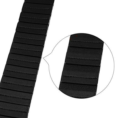 JasGood Women's Fashion Vintage Wide Elastic Stretch Waist Belt With Interlock Buckle (Suit Waist 30-34Inch, Black)